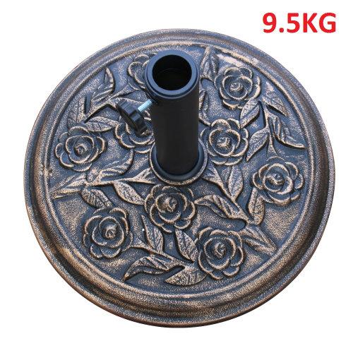 Bronze Cast Iron Effect Parasol Base Heavy Duty Garden Umbrella Stand Weights -9.5Kg