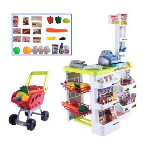 deAO Toys Kids' Supermarket Role Play Set | Children's Toy Shop