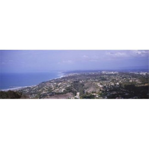 High angle view of buildings on a hill  La Jolla  Pacific Ocean  San Diego  California  USA Poster Print by  - 36 x 12