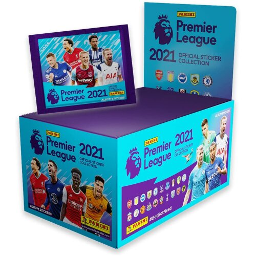 Panini 2021 Premier League Sticker Collection Box (100 sealed packets)