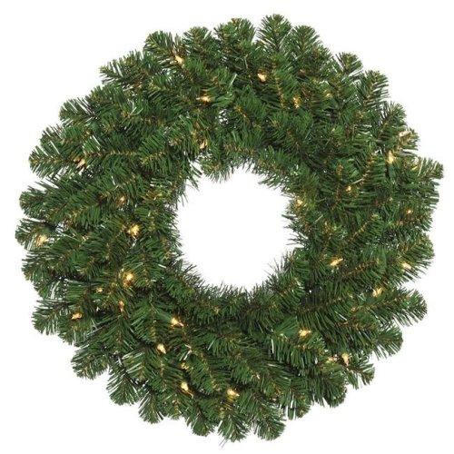 Vickerman C164637 Oregon Fir Dura-Lit Wreath with Clear Lights, 36 in.