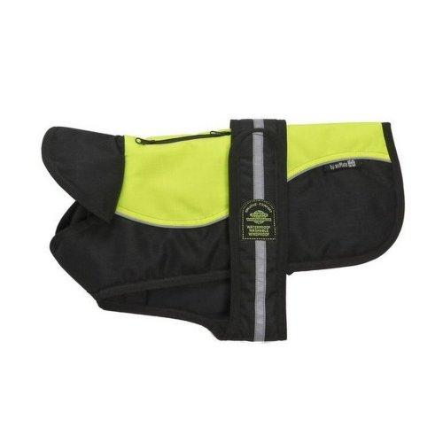 (36cm, Black/Yellow) Outwaite Reflective Hi Viz Padded Underbelly Dog Harness