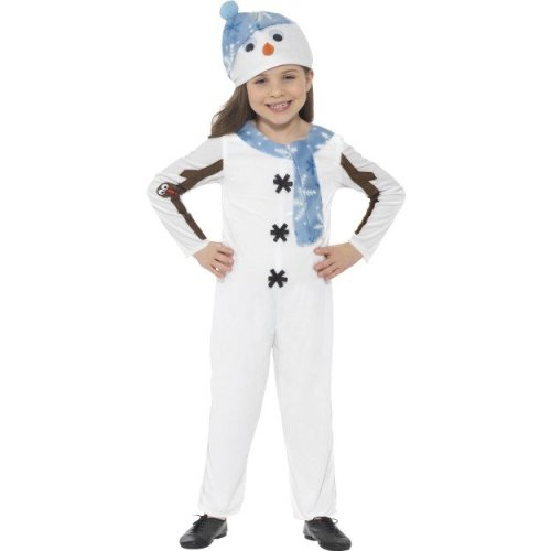 Childrens Snowman Costume Nativity Christmas Xmas Fancy Dress Outfit Boys Girls