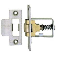 Heavy Duty Adjustable Roller Mortice Door Catch/Latch 38mm - Satin Stainless Steel