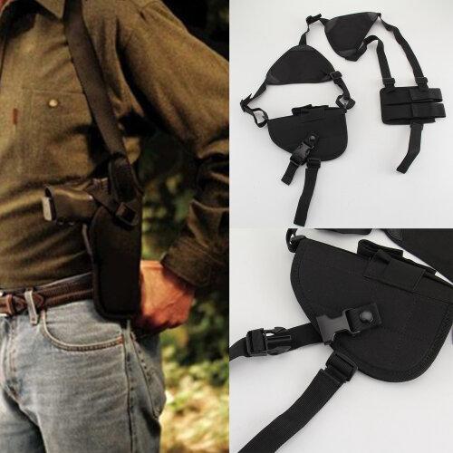Military Tactical Shoulder Pistol Gun Holster Magazine Pouch Bag