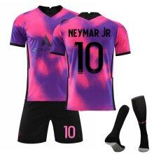 Paris Saint-Germain Neymar Jr. Soccer Jerseys 2020/2021 Jersey Kit for Kids Teens