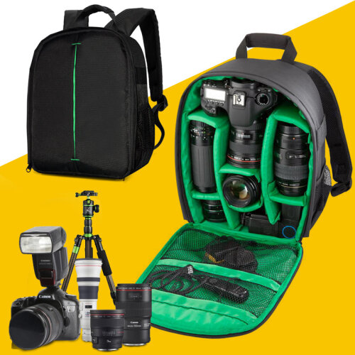 Camera Backpack, Unisex Waterproof Equipment Photography Gears Bag Case for DSLR/SLR Camera Lens Tripod and Accessories