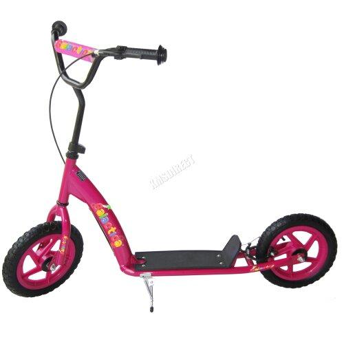 (Pink) GALACTICA HyperTrixx BMX Stunt Scooter - Boys & Girls Big Wheel Scooter