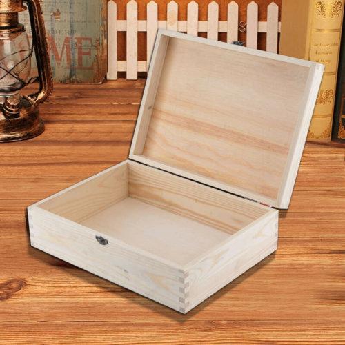 A4 Size Documents Magazine File Storage Wooden BOX Plain Unpainted Craft Box