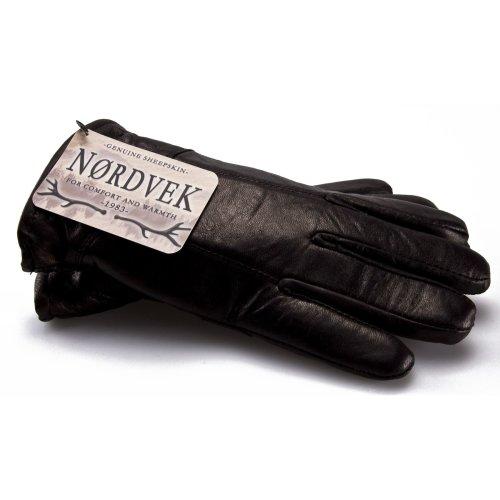 (XL - 11) Nordvek Leather Gloves Man - Sheepskin Lining # 302-100…