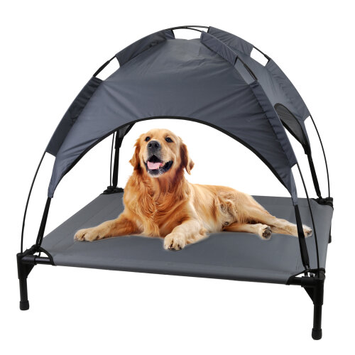 Large Raised Dog Bed Puppy Pet Cot Elevated Tent Roof Canopy Sun Shade Cover