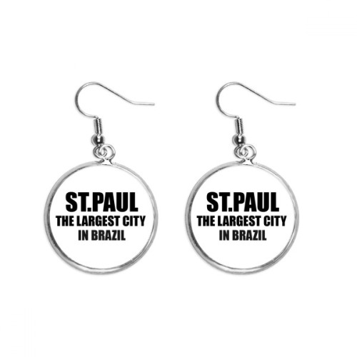 ST.Paul The Largest City In Brazil Ear Dangle Silver Drop Earring Jewelry Woman