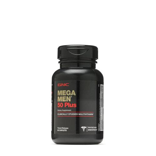 GNC Mega Men 50 Plus Dietary Supplement, 60 Timed-Release Caplets