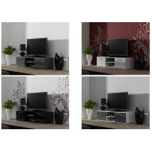 High Gloss TV Cabinet Stand Entertainment Unit with Doors   Soho Modern Living - 180cm
