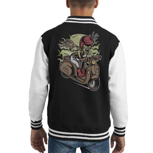 Zombie Scooter Kid's Varsity Jacket