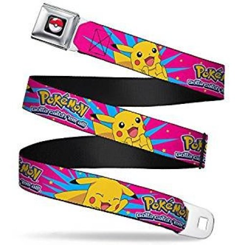 Seatbelt Belt - Pokemon - V.47 Adj 24-38' Mesh New pka-wpk100