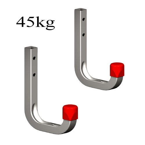 2 x 80mm Storage Wall Hooks 45kg Galvanised Steel, Garages Sheds Ladders & Tools