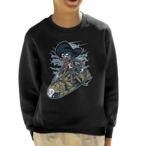 Skeleton Rocket Rider Kid's Sweatshirt