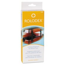 ROL23386 - Rolodex Wood Tones Letter/Legal Desk Tray Stackers Black