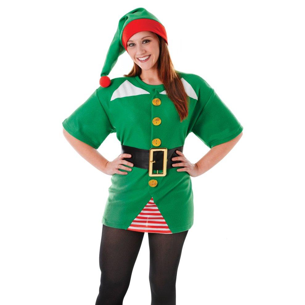 ADULT UNISEX JOLLY ELF COSTUME Santa/'s Helper Christmas Fancy Dress Outfit AC648
