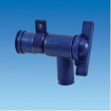 Caravan & Motorhome plastic Blue 28mm Drain Tap