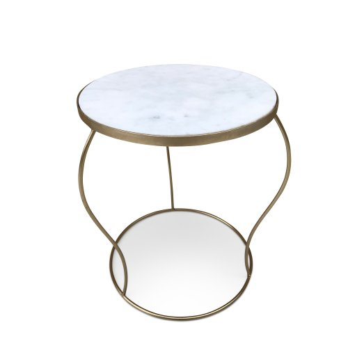 Marble Coffee Table Gold Leg Living Room Side