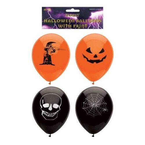 15pk Henbrandt Latex Halloween Party Balloons