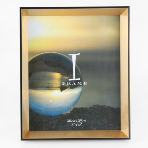8' x 10' - iFrame Black & Gold Photo Frame