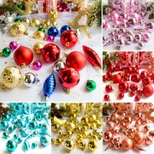 30PCS Merry Christmas Tree Ornaments Xmas Baubles Wedding Party Festival Decor