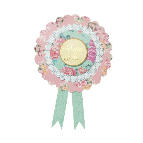 Microfibre Multicolour Talking Tables Truly Baby Mum to Be Rosette Badge 22x16.5x0.8 cm