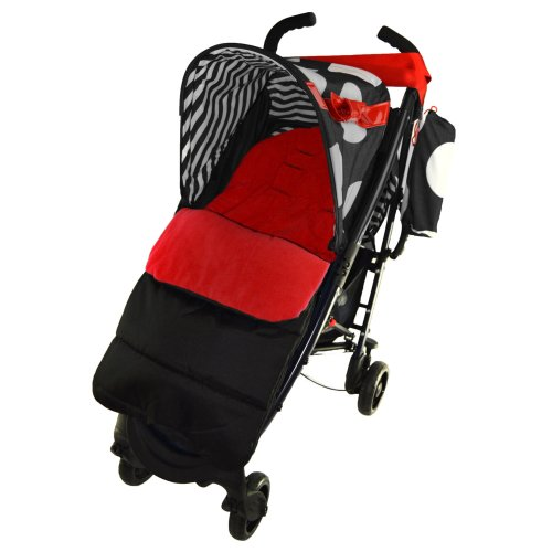 Footmuff//Cosy Toes Compatible with Joie Aire Lite Stroller Pushchair Fire Red