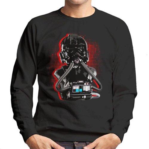 Original Stormtrooper Imperial TIE Pilot Red Burst Men's Sweatshirt