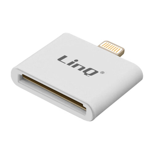 Lightning to 30 Pin Adapter Charge & Sync- IP-7748- LinQ White