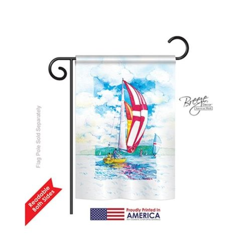 Breeze Decor 59041 Sailboats 2-Sided Impression Garden Flag - 13 x 18.5 in.