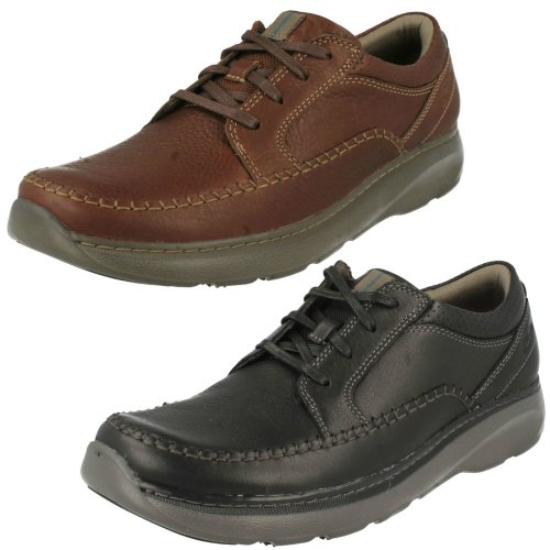 Mens Clarks Casual Lace Up Shoes Charton Vibe - G Fit