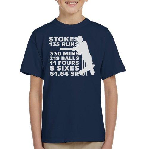 Cricket England Ben Stokes 2019 Australia Stats Kid's T-Shirt