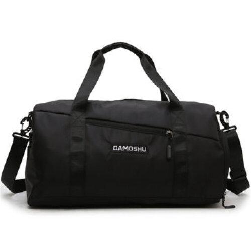Wet Dry Separation Shoes Bag Waterproof Gym Bag Sport Fitness Yoga Luggage Handbag Travel Shoulder Bag BLACK