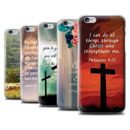 Christian Bible Verse Apple iPhone 6S Phone Case Transparent Clear Ultra Slim Thin Hard Back Cover for Apple iPhone 6S