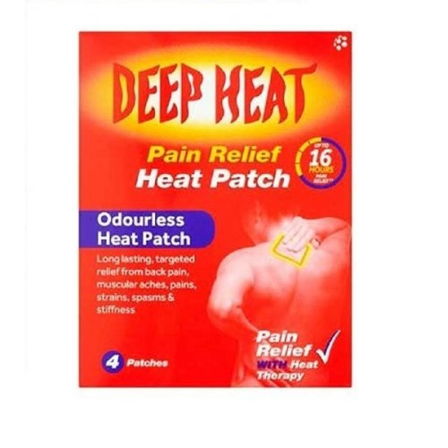 DEEP HEAT PAIN RELIEF PATCH 16 HOURS - 4 PATCHES