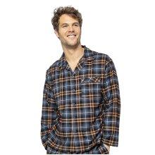 Cyberjammies Arthur 6522 Men's Blue Mix Check Pyjama Top