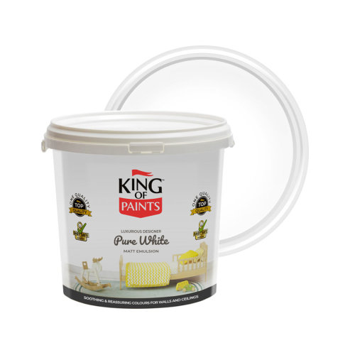 White Emulsion Paint High Opacity 5 Litres King of Paints