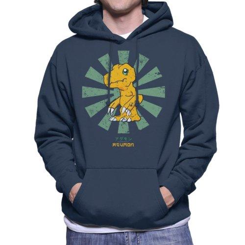 Agumon Retro Japanese Digimon Men's Hooded Sweatshirt