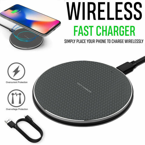 10w Fast Wireless Charger Charging Pad For Samsung S21, S20, Note 20, Note10