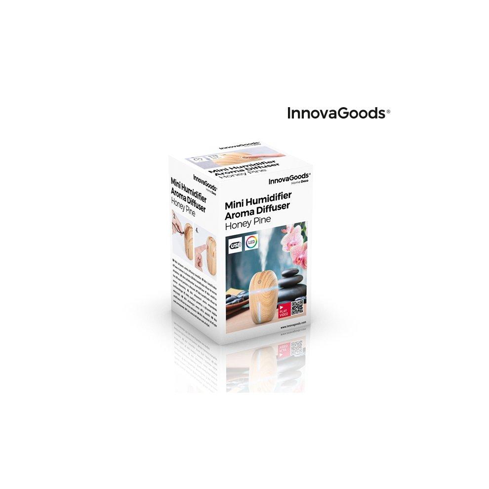 InnovaGoods Mini Humidifier Aroma Diffuser Honey Pine