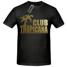 Club Tropicana Gold Slogan Unisex t shirt, 80's