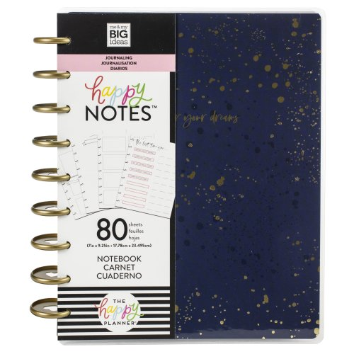 Happy Planner Medium Journaling Notebook W/80 Sheets-Go After Your Dreams