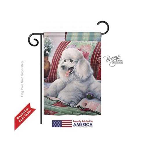 Breeze Decor 60093 Pets Poodle 2-Sided Impression Garden Flag - 13 x 18.5 in.