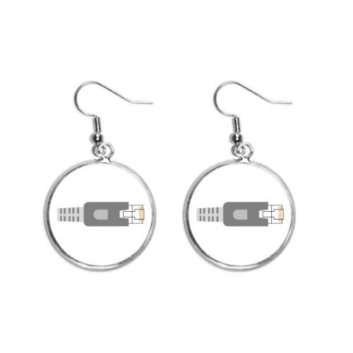 Plug Socket Pattern Circuit Diagram Ear Dangle Silver Drop