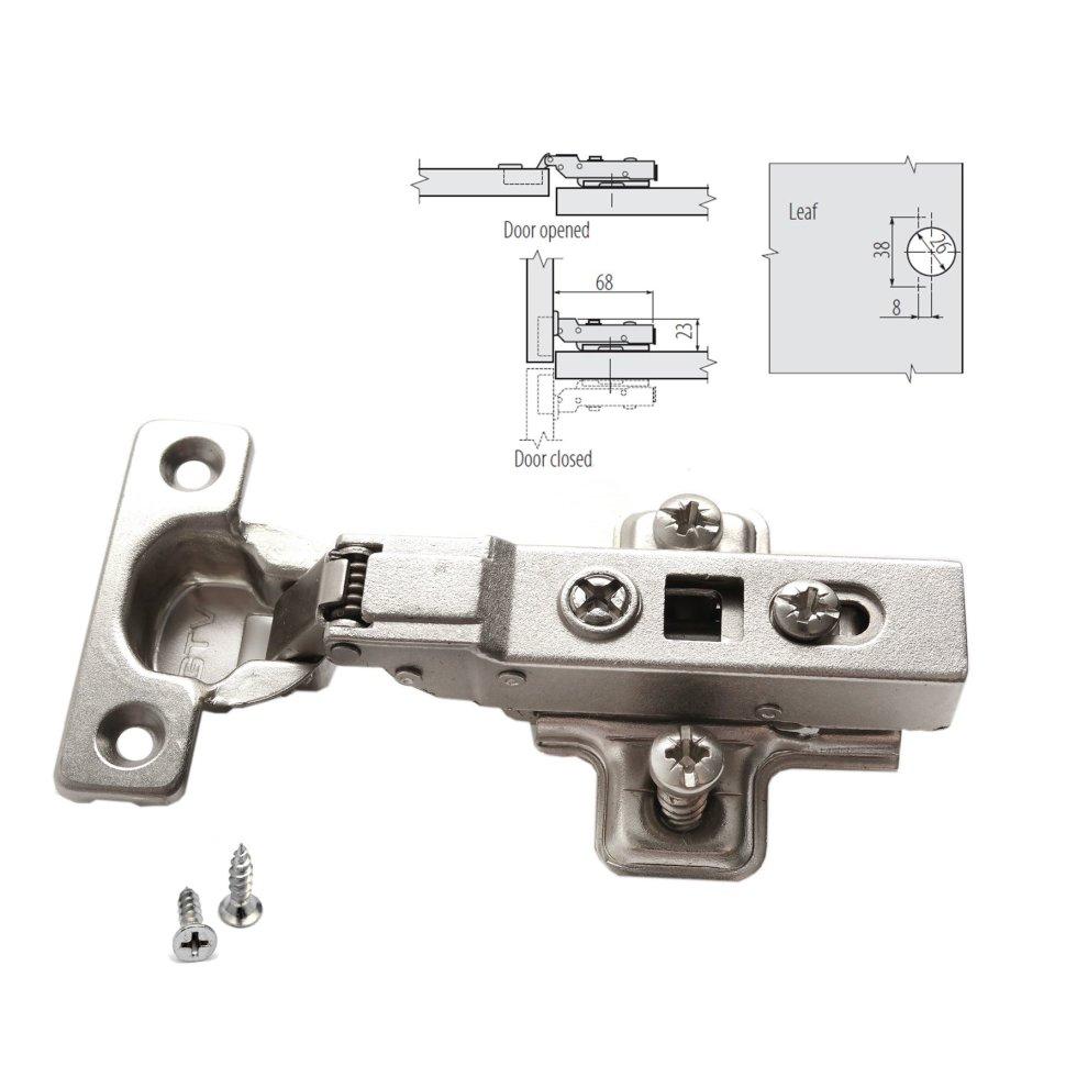 Gtv Soft Close 26mm Kitchen Cabinet Door Hinge Half Overlay Plate Screws On Onbuy