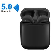 i12 TWS Wireless Bluetooth 5.0 Touch control Earphones with Charging Case Automatically Pairing Black